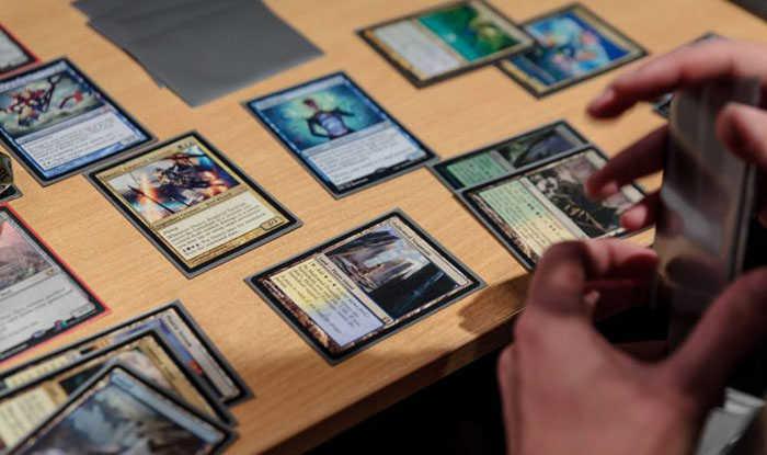 magic cards shuffling